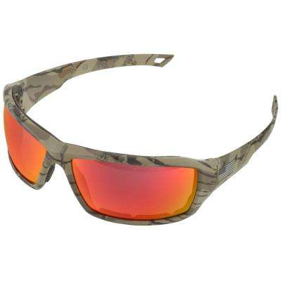 Live Free Camo with Red Mirror Lens Eye Protection (Retail Box)