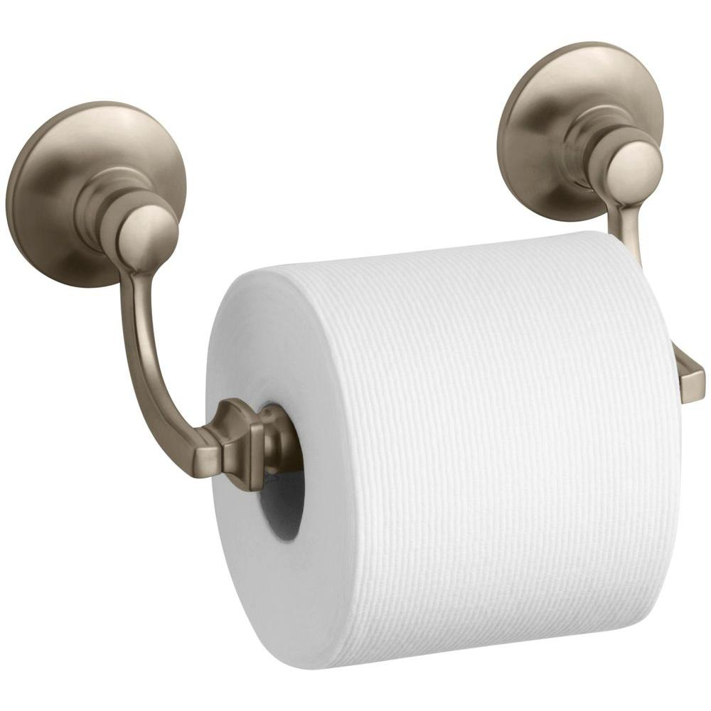 Bancroft Double Post Toilet Paper Holder in Vibrant Brushed Bronze