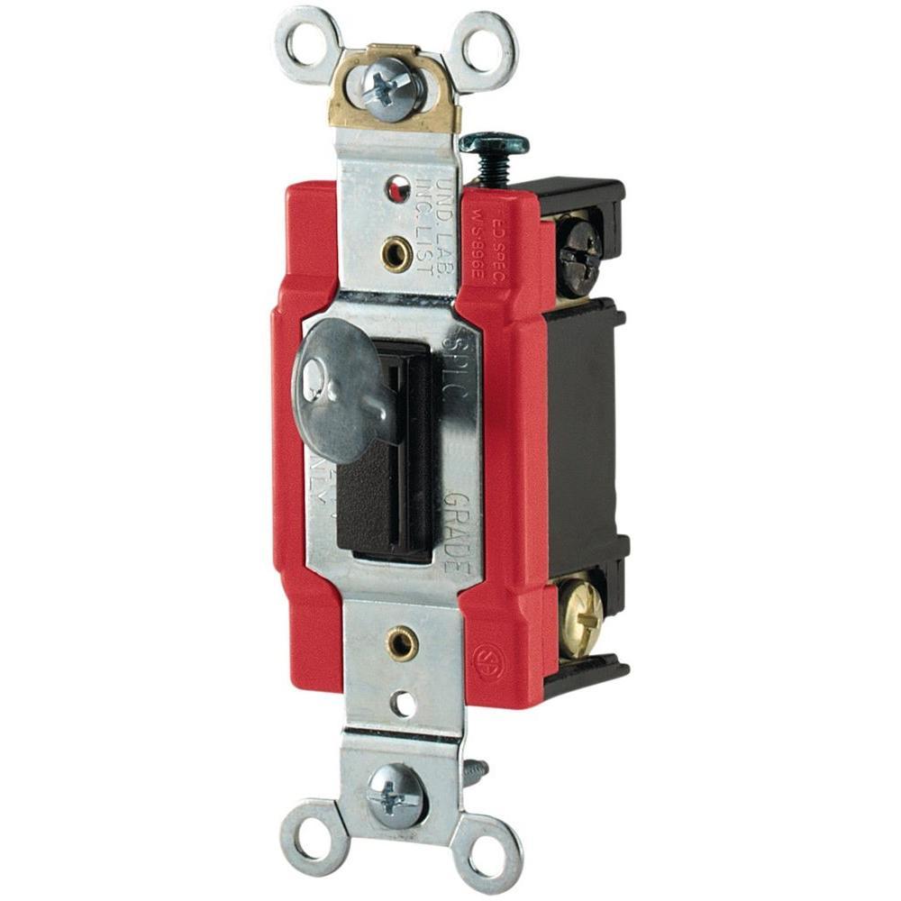 eaton 20 amp double pole premium toggle switch light almond cs220la rh homedepot com Leviton Decora 3-Way Switch Wiring Diagram Leviton Motion Switch Wiring