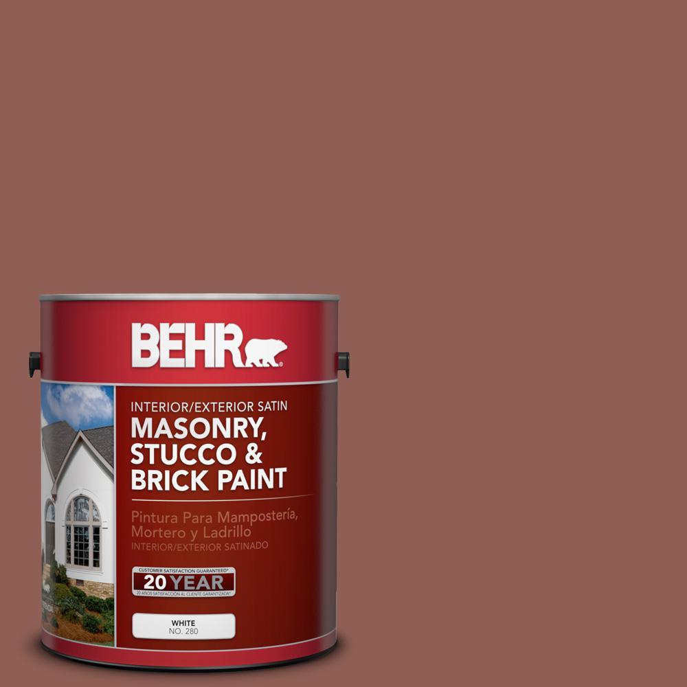 1 gal. #BXC-57 Raw Sienna Satin Interior/Exterior Masonry, Stucco and Brick Paint