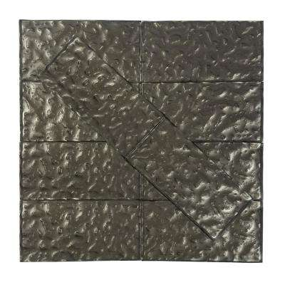 Metallics Brown Wavy 3 in. x 6 in. Glass Wall Tile (1 sq. ft. / pack)