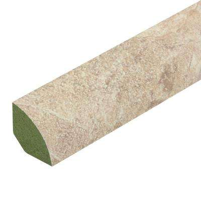 Florence Travertine/Ivory Porcelain 3/4 in. Thick x 3/4 in. Wide x 94 in. Length Laminate Quarter Round Molding