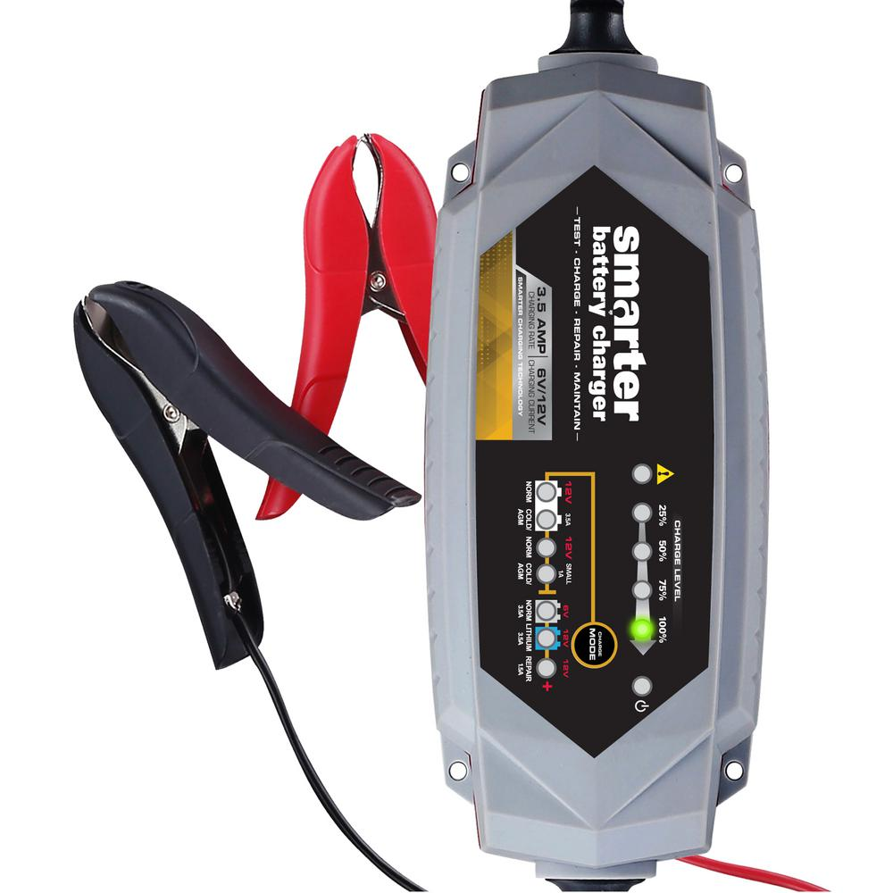 Smarter Tools 35 Amp 6 Volt 12 Battery Charger With 6v Gel Cell Repair