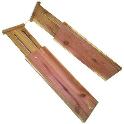 Expandable 13 in. to 17 in. Cedar Dresser Drawer Dividers (2-Pack)