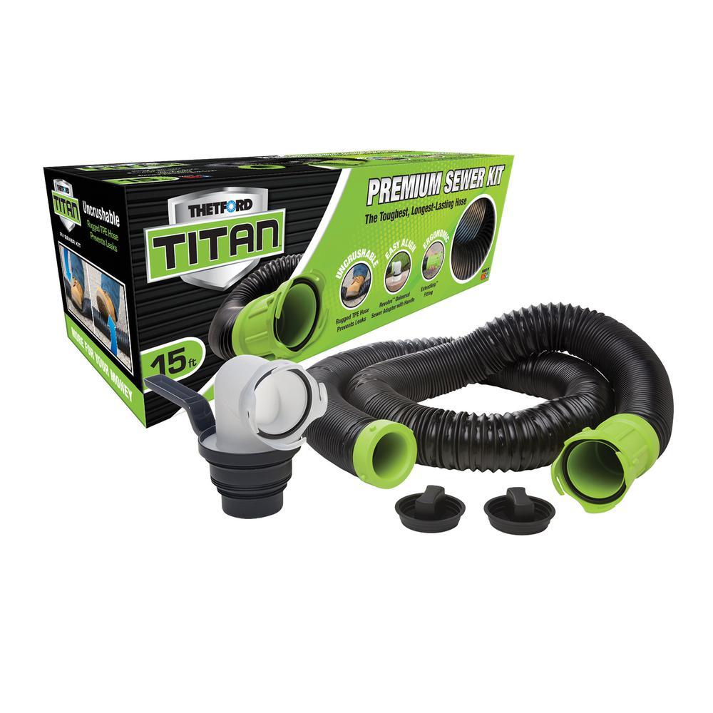 15 ft. Titan Sewer Hose Kit