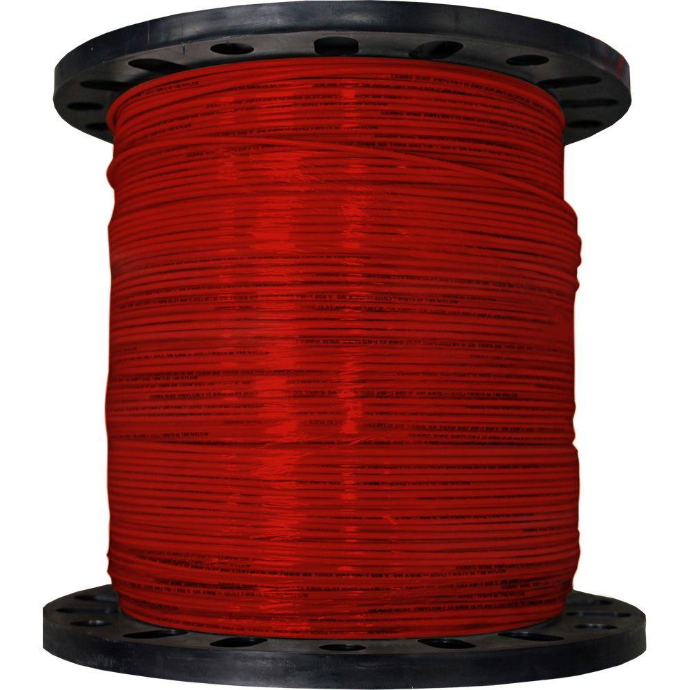 Cerrowire 2500 ft. 12/19 Red Stranded THHN Wire-112-3603M - The ...