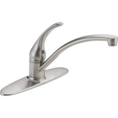 Foundations Single-Handle Standard Kitchen Faucet in Stainless