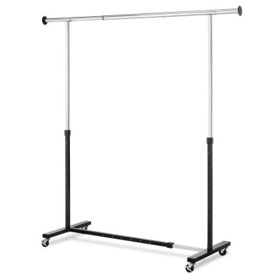 74.4 in. W x 63.5 in. H Chrome/Black Expandable Garment Rack