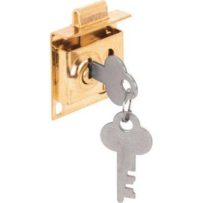 5/16 in. Bolt Throw Steel Brass-Plated Mailbox Lock with Offset Keyway