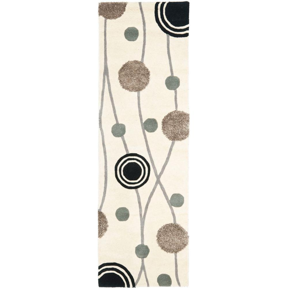 Safavieh Soho Ivory/Grey 2 ft. 6 in. x 8 ft. Runner