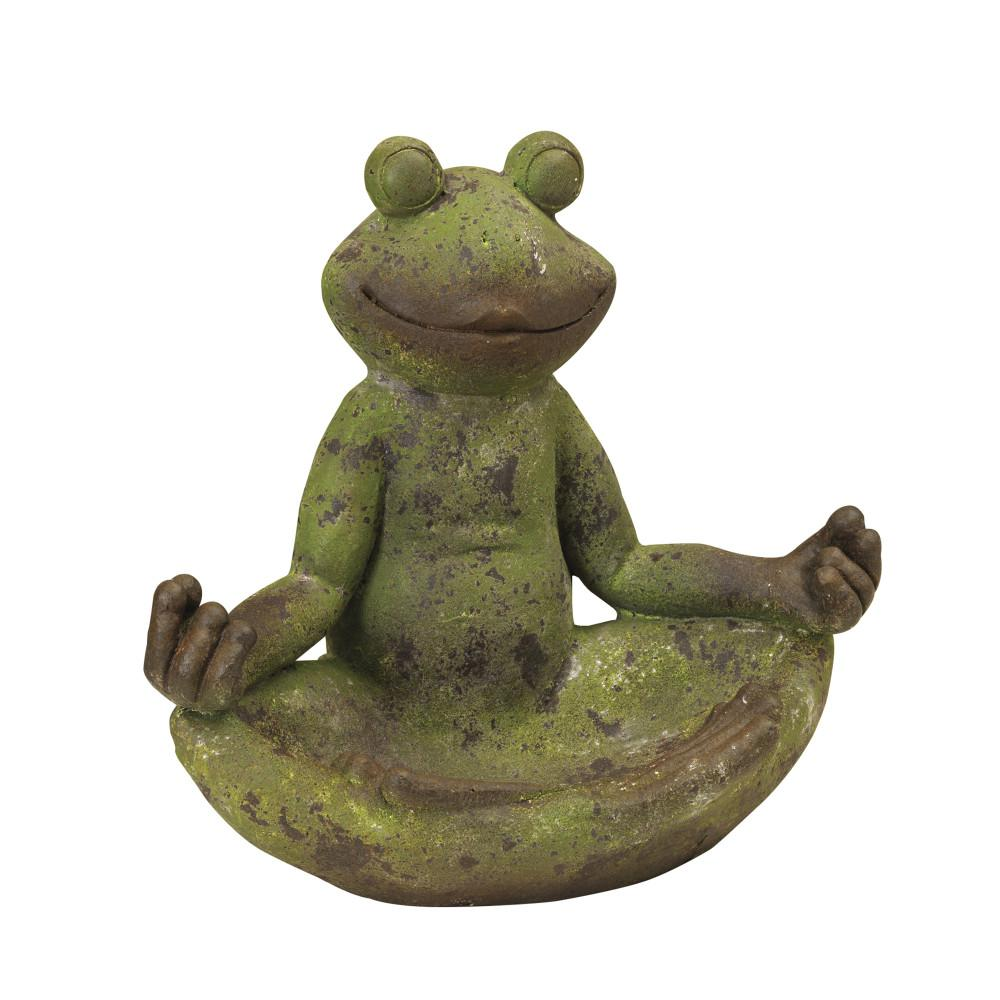 Gerson 14 in. L Magnesium Frog Sculpture-2252640EC - The Home Depot