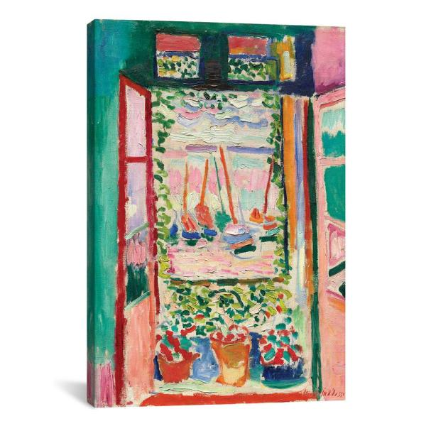 Open Window At Collioure 1905 By Henri Matisse Canvas Wall Art