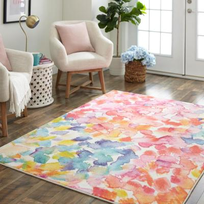 Sunwashed Dream Multi 8 ft. x 10 ft. Abstract Area Rug