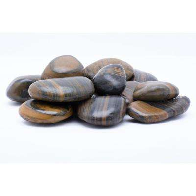 1 in. to 2 in. 2200 lb. Medium Striped Grade A Polished Pebbles