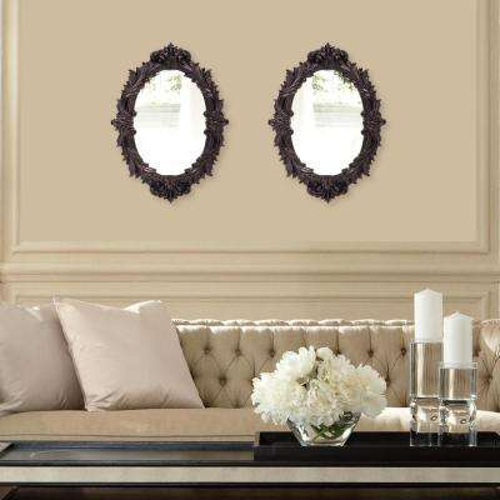 17 in. x 23 in. Oil Rubbed Bronze Framed Mirror