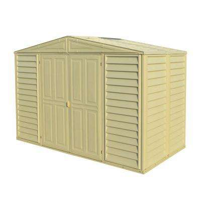 Woodbridge 10.5 ft. x 5 ft. Plastic Vinyl Shed with Foundation