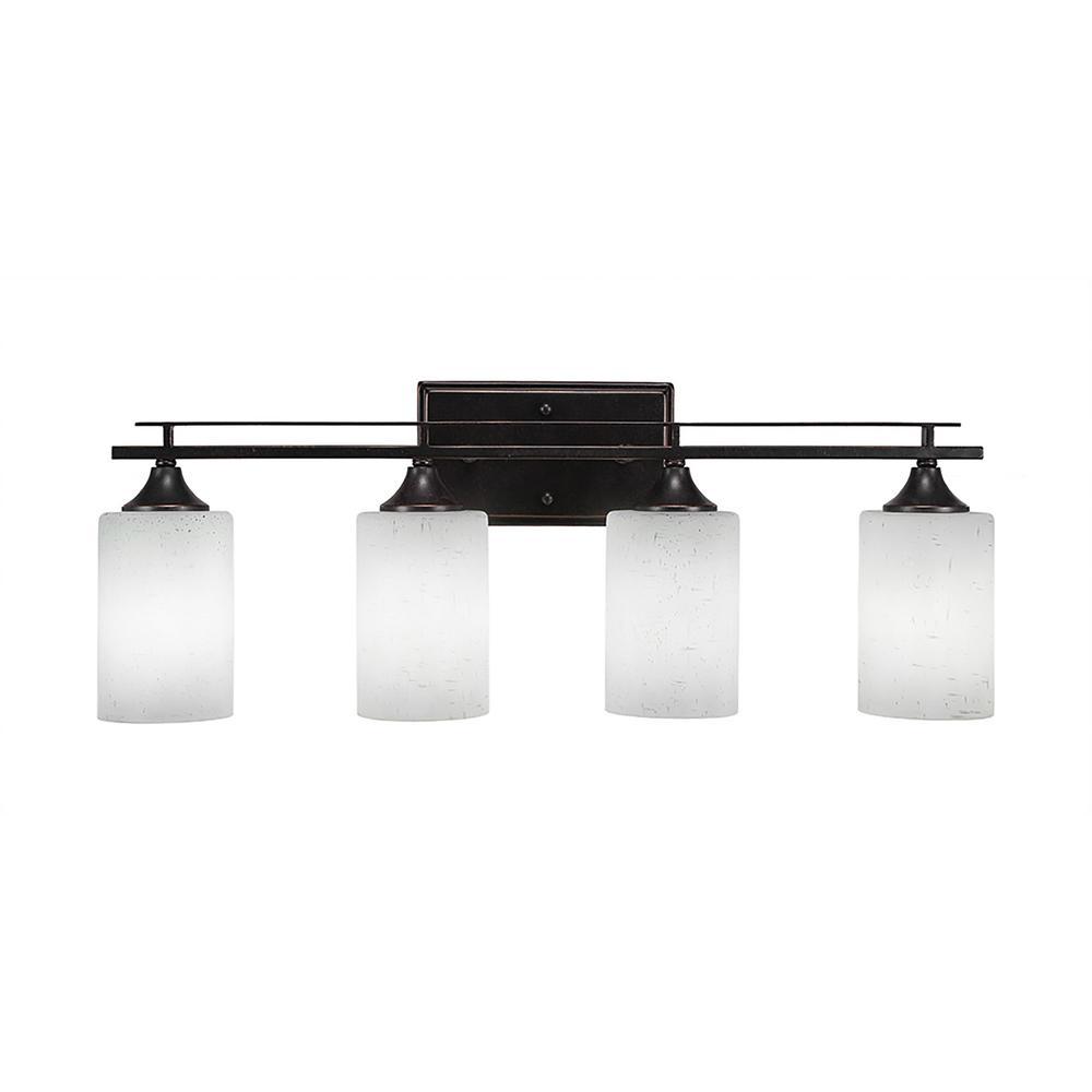 4-Light Dark Granite Bath Light