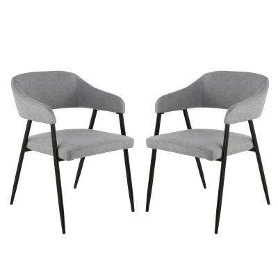 Helsinki Upholstered Grey Dining Chair in (Set of 2)