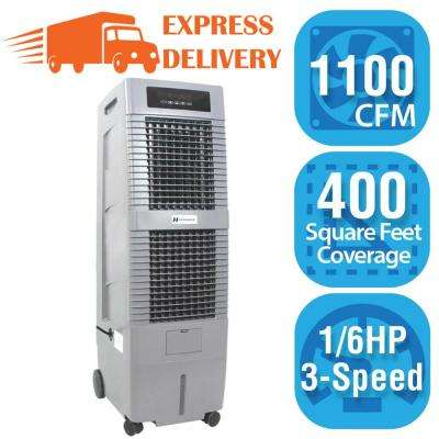 1,100 CFM 3-Speed Portable Evaporative Cooler (Swamp Cooler) for 400 sq. ft.
