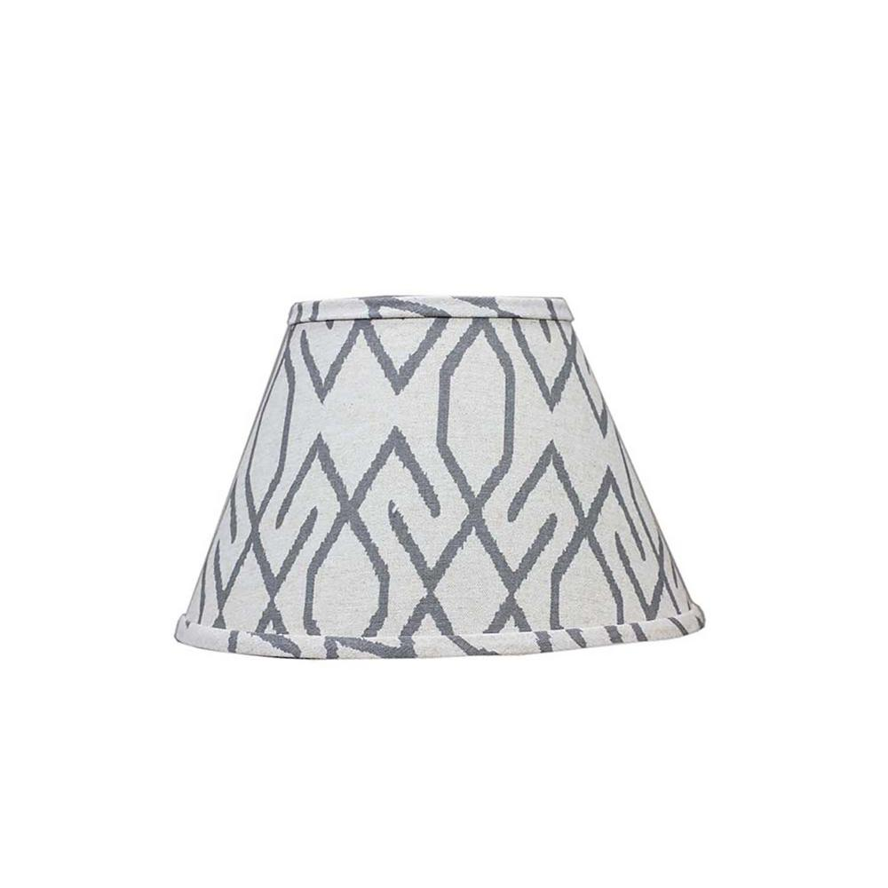 Homestyle 6 In X 8 In Dark Gray Lamp Shade Sd1561 12we