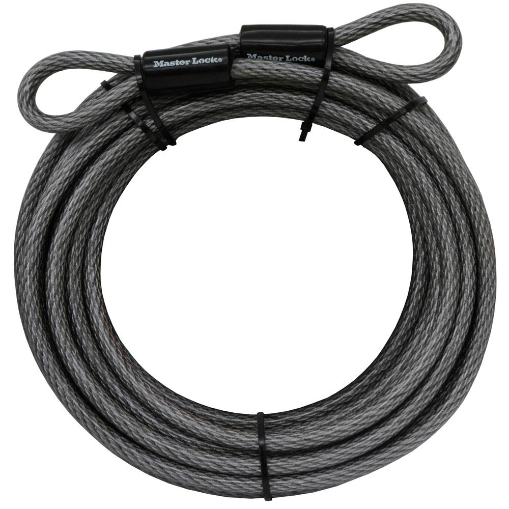 Master Lock 30 ft. Heavy-Duty Vinyl Coated Galvanized Steel Braided Cable