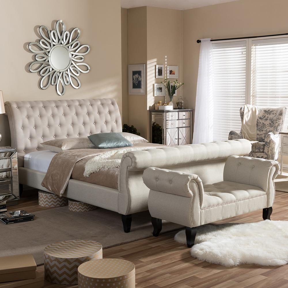 Baxton Studio Arran 2 Piece Beige Queen Bedroom Set 5201