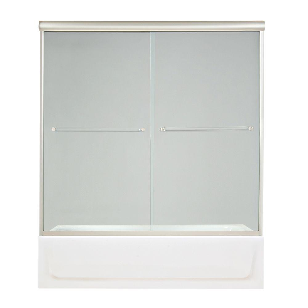 MAAX Luminous 54 in. to 59-1/2 in. W Tub Door in Chrome-DISCONTINUED
