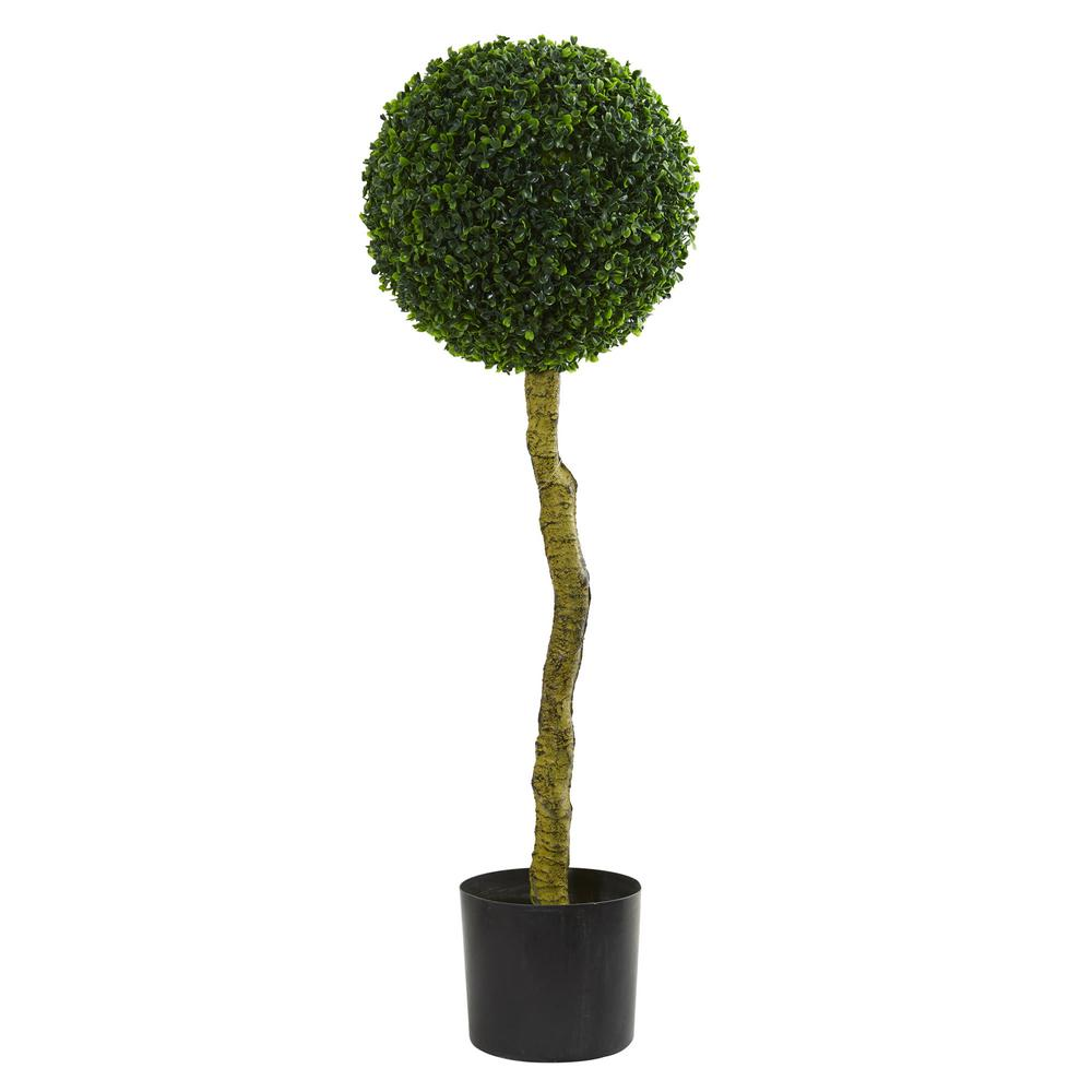 nearly natural 3.5 in. uv resistant indoor/outdoor boxwood Artificial Topiary Trees
