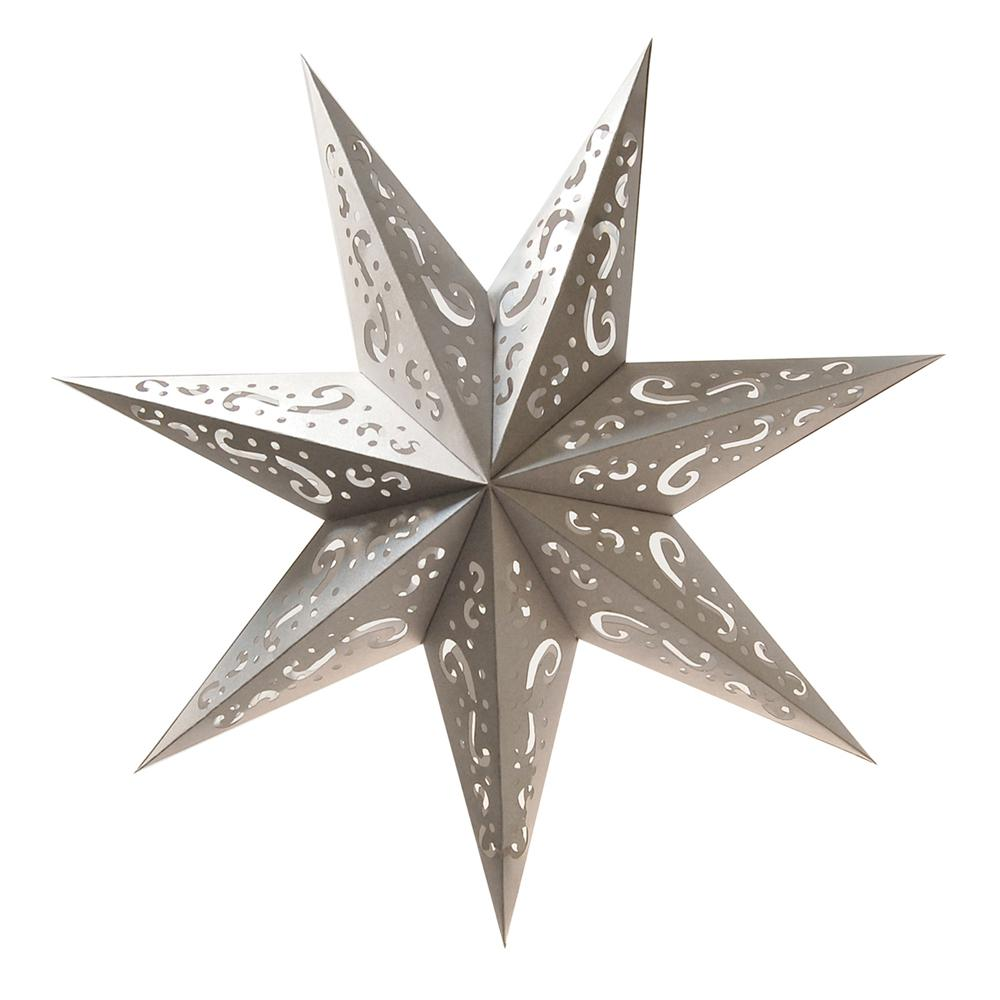 Lumabase Paper Lantern Silver 7 Point Star (3- Pack)
