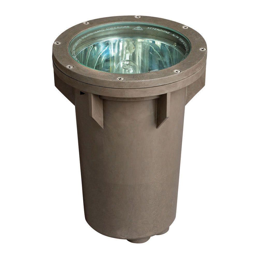 Hinkley Lighting 120-Volt Line-Voltage 70-Watt Bronze Metal Halide Small In-Ground Well Light