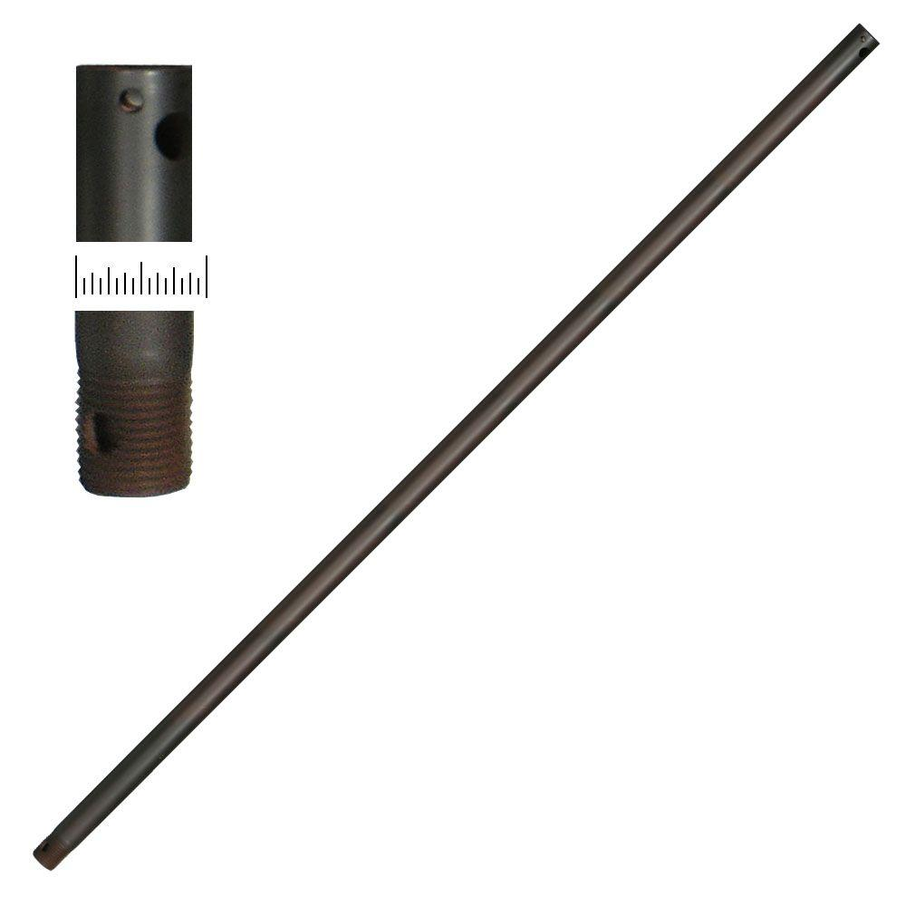 Troposair ceiling fan downrods ceiling fan parts the home depot oil rubbed bronze extension downrod aloadofball Gallery