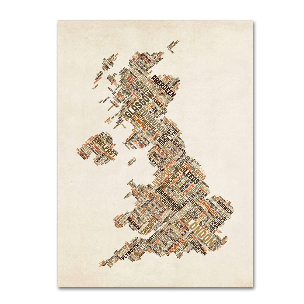32 in. x 22 in. United Kingdom II Canvas Art