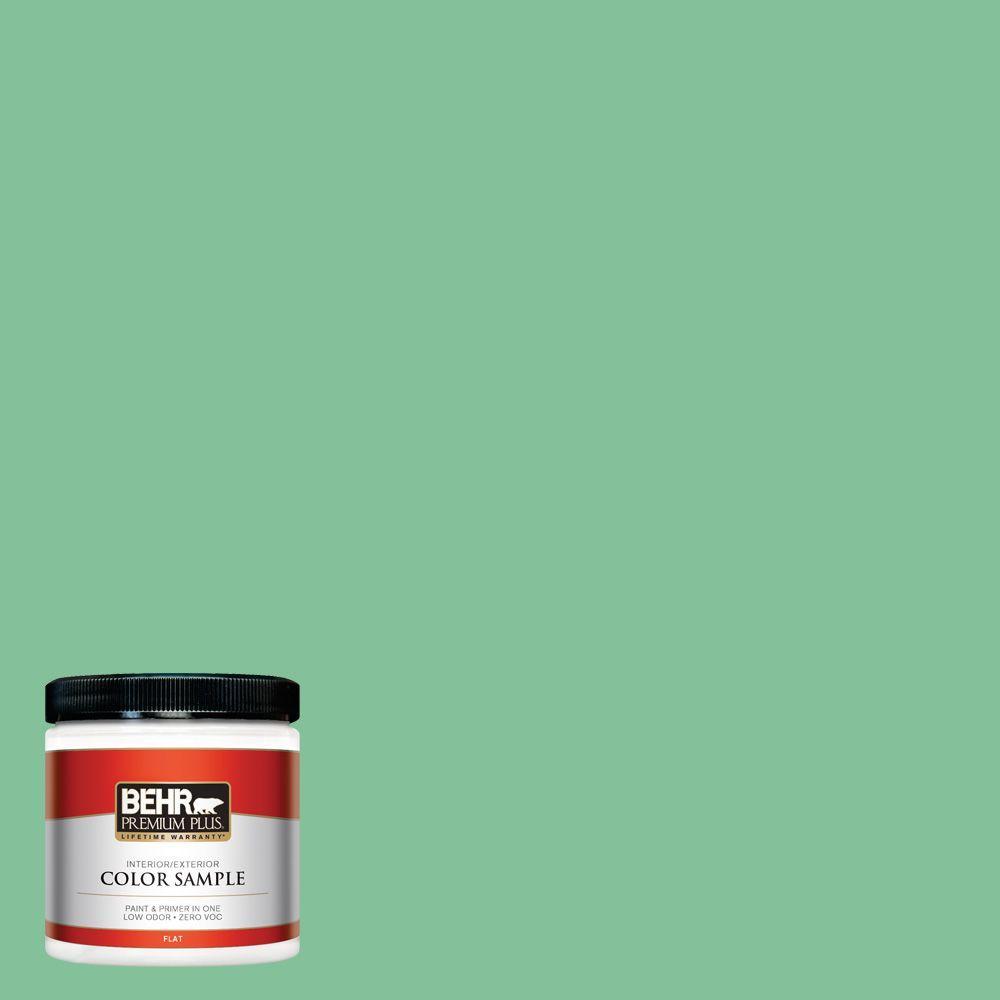 BEHR Premium Plus 8 oz. #P410-4 Willow Hedge Interior/Exterior Paint Sample