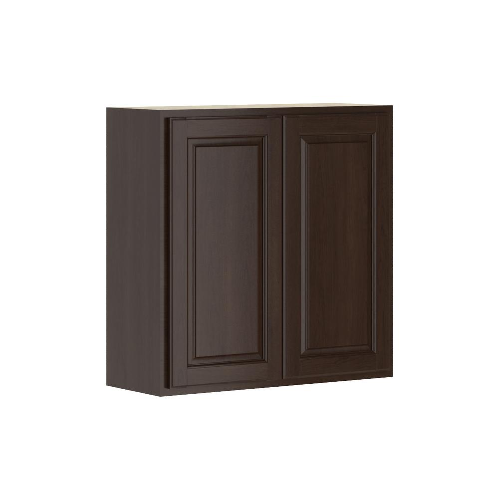 Madison Assembled 30x30x12 in. Wall Cabinet in Java