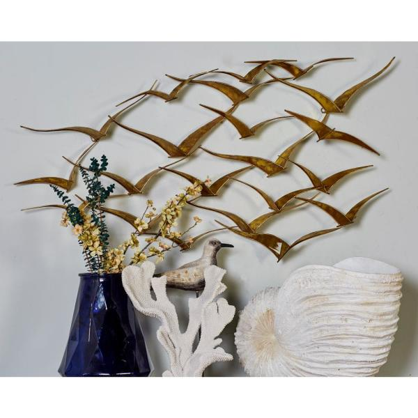 Ceramic Flying Birds Wall Decor from images.homedepot-static.com