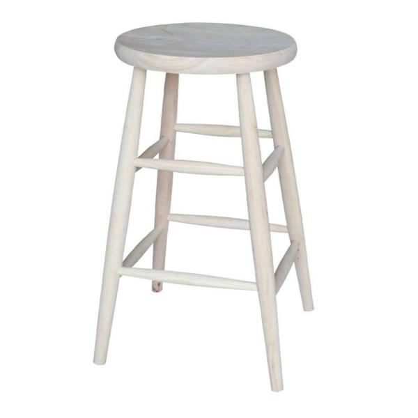 International Concepts 30 in. Unfinished Wood Bar Stool