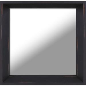 10.5 inch x 10.5 inch Antique Brown Plain Decorative Mirror (Set of 3) by