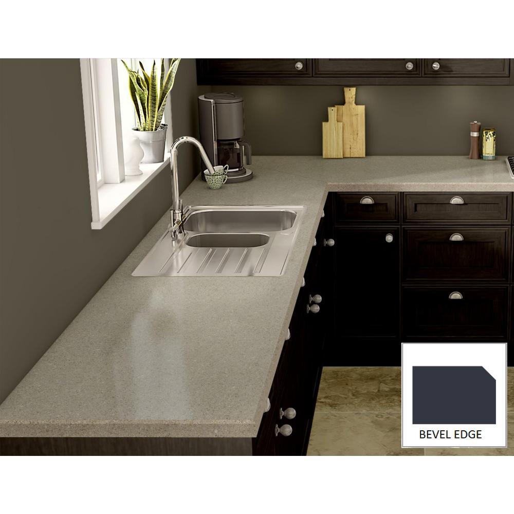 Laminate Countertops Product : Wilsonart cipollino grigio laminate custom bevel edge c f