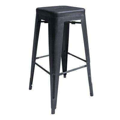 Desmond 30 in. Industrial Grey Bar Stool