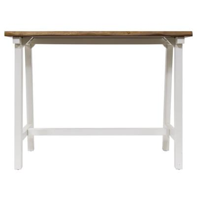 Zealand Trestle White/Natural Console Table