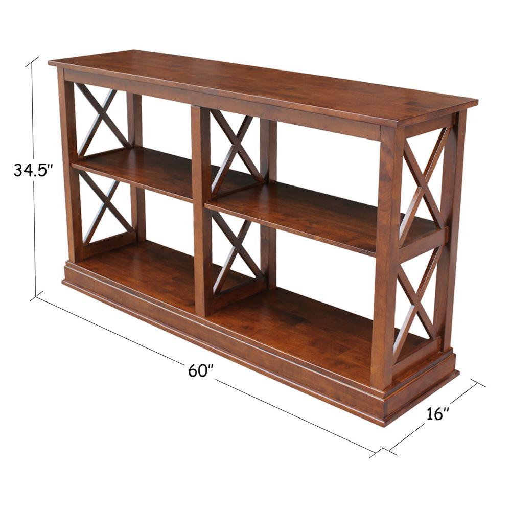 Hampton Espresso Console Table