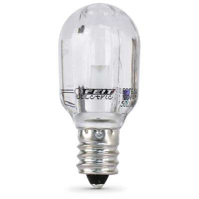 15-Watt Equivalent Bright White (3000K) T6 Candelabra E12 Base LED Light Bulb