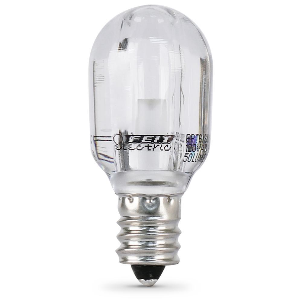 15-Watt Equivalent Bright White (3000K) T6 Candelabra E12 Base LED Light Bulb