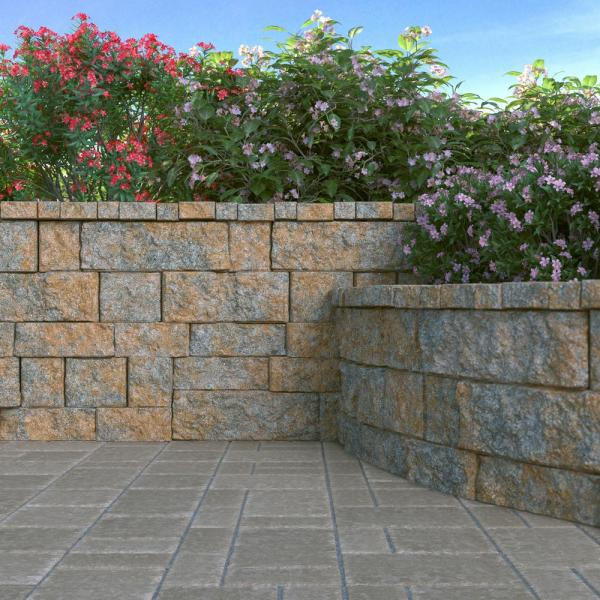 Pavestone Rockwall Large 6 In X 17 5 In X 7 In Yukon Concrete Retaining Wall Block 79850 The Home Depot