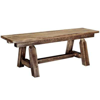 Homestead Brown 72 in. Plank Bench