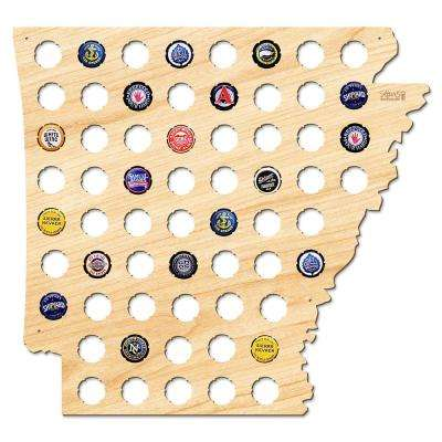 17 in. x 16 in. Large Arkansas Beer Cap Map