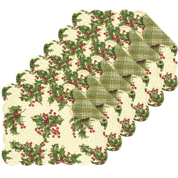 C & F Home Holly Cream Placemat (Set of 6)