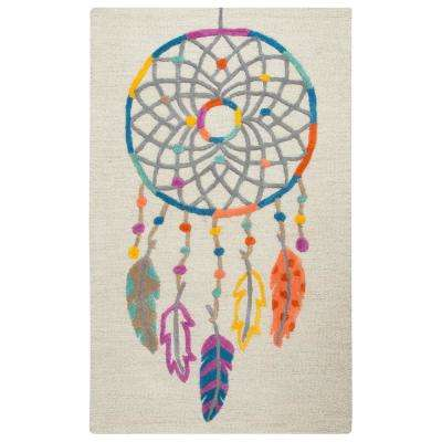 Play Day  Ivory/Multicolor 3 ft. x 5 ft. Rectangle Area Rug