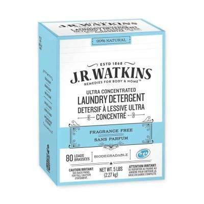 5 lbs. Fragrance Free Powder Laundry Detergent (80 Loads) (8-Case)
