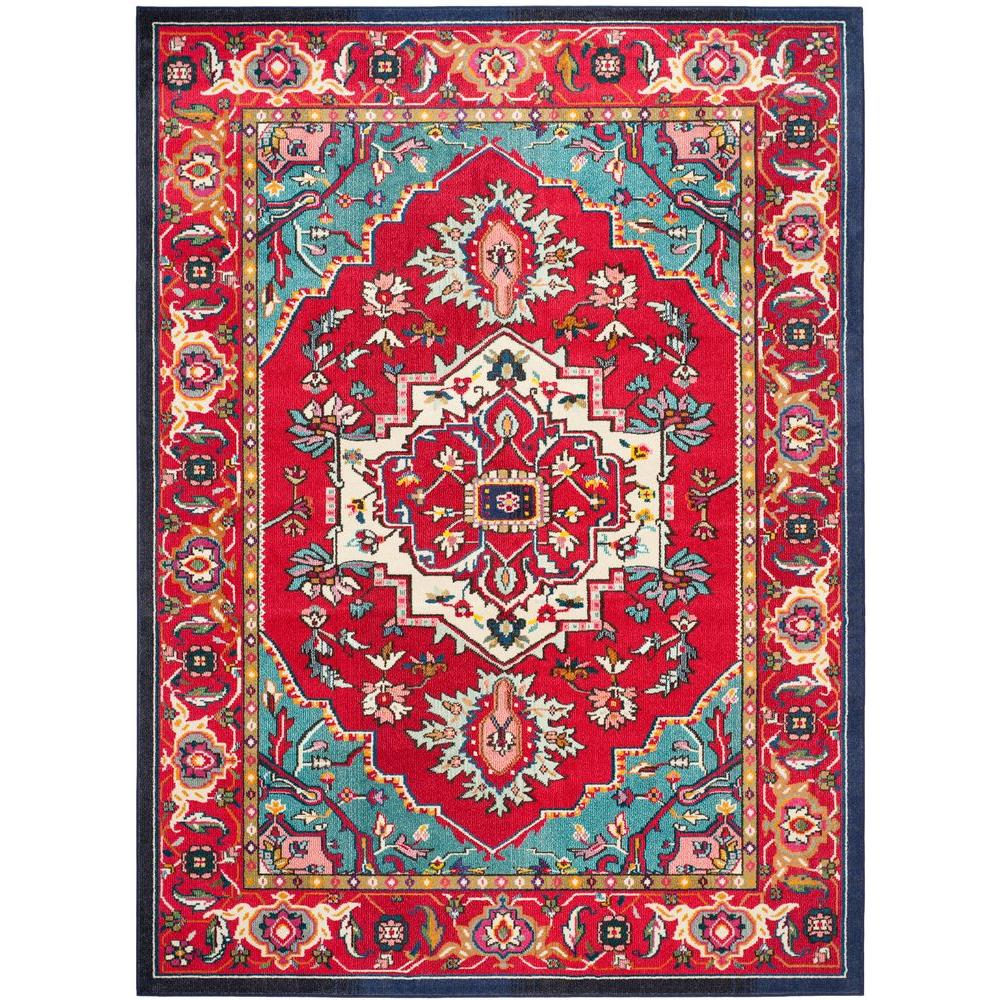 Safavieh Monaco Red Turquoise 10 Ft X 14 Area Rug